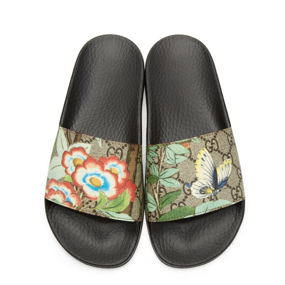 435260e3583 Gucci Shoes - Auth Gucci Slides multicolor GG Supreme Tian